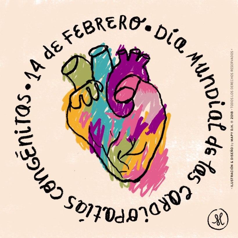 14 de febrero. Día mundial de las cardiopatías congénitas.